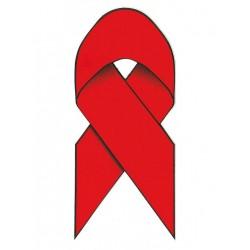 Red Ribbon / Aidsschleife Aufkleber / Sticker 5,5 x 13 cm / 2 x 5 inch
