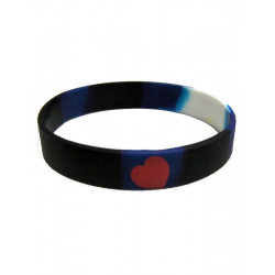 Leather Pride Bracelet Silicone (T1570)