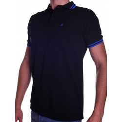 BoXer X-Polo Shirt Black/Blue Stripes (T5566)
