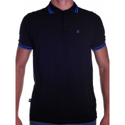 BoXer X-Polo Shirt Black/Blue Stripes