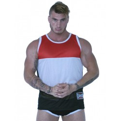 GBGB Jackson Muscle Tank Top Red/White/Black (T5291)