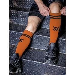 BoXer Football Sox One Size Orange/Black (T5409)