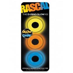 The D-Ring Glow X3 (Rascal Toys) (T5660)