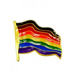 Pin Waving POC Rainbow Flag