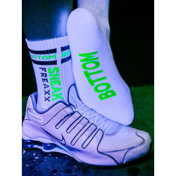 Sneak Freaxx Bottom Neon Socks White One Size (T6209)