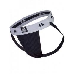 MM The Original Jockstrap Underwear Black/Grey 2 inch (T6220)