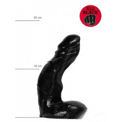 All Black Dildo 15 x 3,7 cm (T6230)