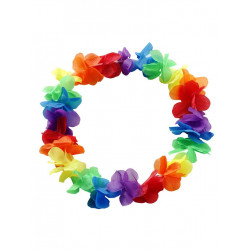 Rainbow Hawaii Flower Wreath / Blumenkranz (T6319)