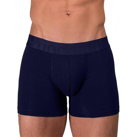 Rounderbum Padded Boxer Brief Underwear Navy Blue (T6345)