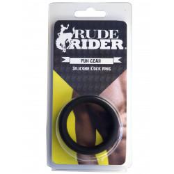 RudeRider Silicone Cock Ring Black (T6256)