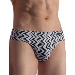 Olaf Benz Beachbrief BLU1856 Swimwear ZigZag Black/White (T6369)