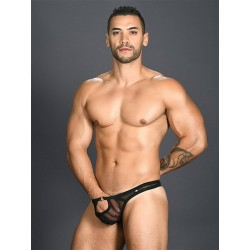 Andrew Christian Arouse Gigolo Mesh Ring Thong Underwear Black (T6504)