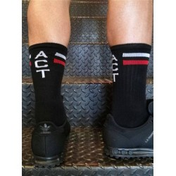 BoXer Skater Socks ACT One Size Black/White/Red