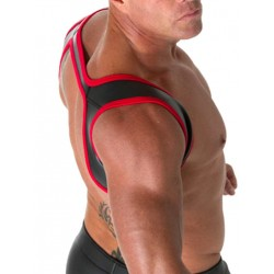665 Leather Neoprene Slingshot Harness Black/Red (T3316)