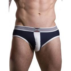 GBGB Theo Brief Underwear Navy/White (T7051)