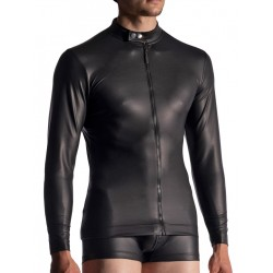 Manstore Zipped Longsleeve M510 T-Shirt Black (T7366)