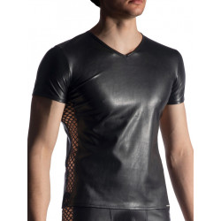 Manstore V-Neck Tee Regular M917 T-Shirt Black (T7425)