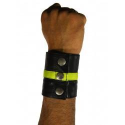 RudeRider Wrist Wallet Leather Black/Yellow (T7320)