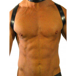 RudeRider Shoulder X-Back Harness Leather Black/Black (T7311)