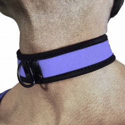 RudeRider Neoprene Puppy Collar Blue (T7269)