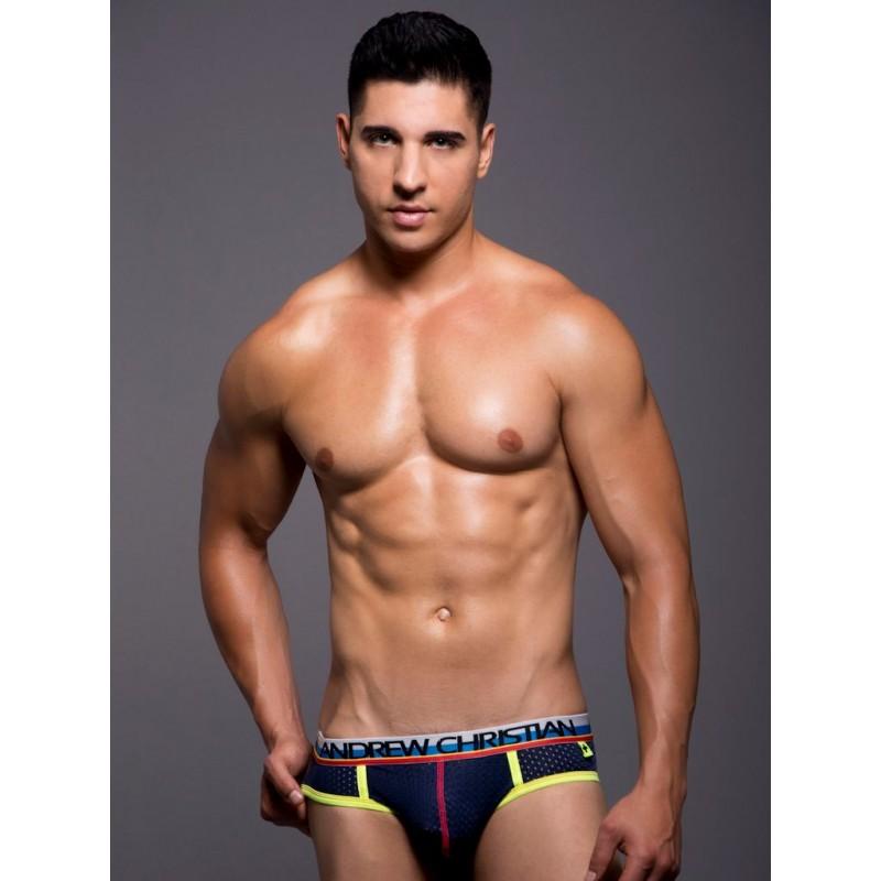 Andrew Christian Air Jock w/Show-It Underwear Navy (T3841)