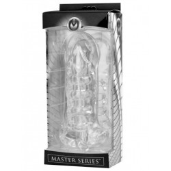 Master Series Girth Enhancing Penetration Device and Stroker Sleeve Clear