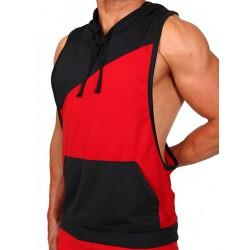 Pistol Pete Flex Hoody T-Shirt Red/Black (T4328)