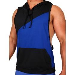 Pistol Pete Flex Hoody T-Shirt Royal/Black (T4330)