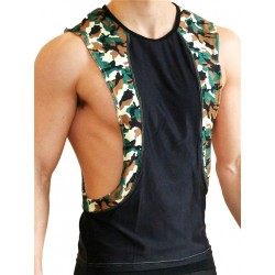 GB2 Arnold Training Muscle Tank Top Black/Camo (T4399)