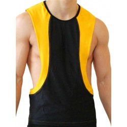 GB2 Arnold Training Muscle Tank Top Black/Yellow (T4398)