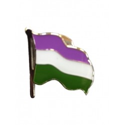 Pin Waving Gender Queer Flag (T4750)