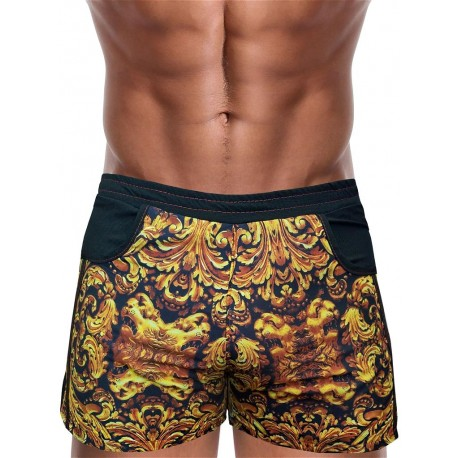 Danny Miami God Of Kings Beach Shorts Multi (T4877)