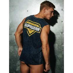 Supawear Racer Tank Top Navy Blue