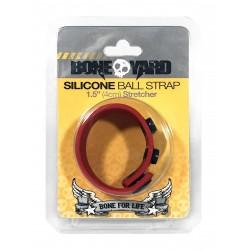 Bone Yard Silicone Ball Stretcher Red (T4932)