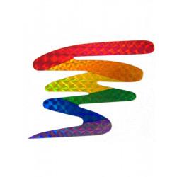 Rainbow Aufkleber/Sticker Zick Zack reflective 7 x 8 cm / 3 x 3.5 inch (T0148)