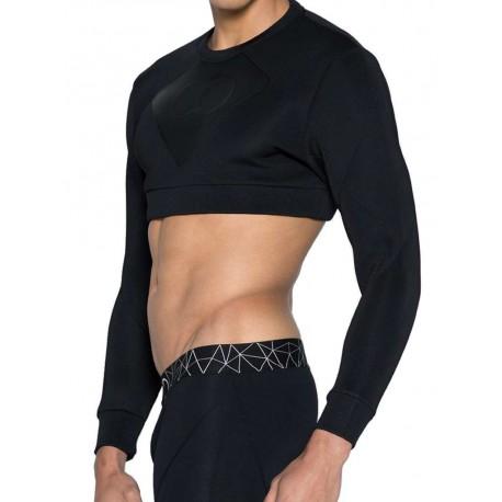 2Eros BLK Aktiv Cropped Short Sweater Black (T4201)