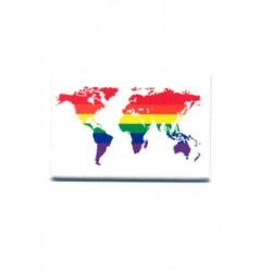 Rainbow World White Magnet (T5122)