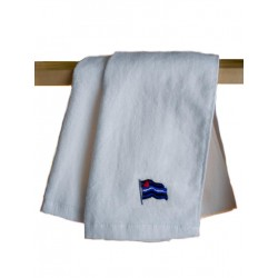 Leather Pride Gym Towel White 30x112 cm / 12x44 inch (T5249)
