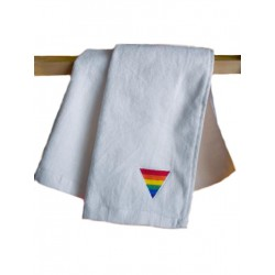 Rainbow Triangle Gym Towel White 30x112 cm / 12x44inch (T5243)