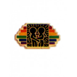 Pin Rainbow Stripes w/Design (T5219)