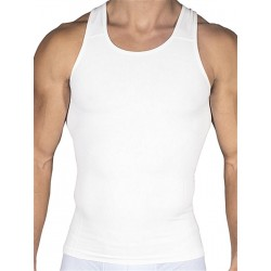Rounderbum Compression Tank Top Seamless White (T4850)