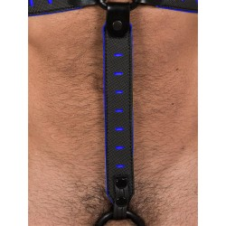665 NeoFlex Down Strap Neoprene Harness Extension Long Black/Blue (T4979)